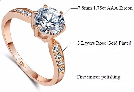 Crystal Rose Gold Rings
